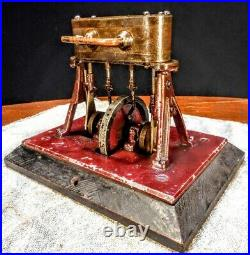 Vintage Antique Early Cast A-Frame Old Marine Steam Engine Model hit miss motor