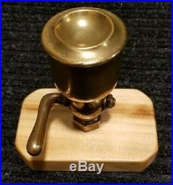 Vintage/Antique Lunkenheimer No. 7 Hit Miss Steam Engine Brass Screw Top Oiler