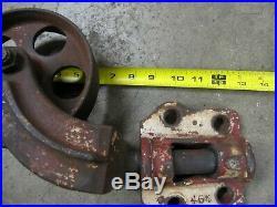 Vintage Cast Iron Wheels Industrial Cart Hit Miss Engine Cart Swivel Caster