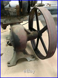 Vintage Delco Model AA water pump with NorthEast 1/3hp motor Cast Iron hit miss