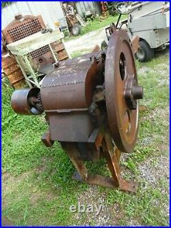 Vintage Flat Belt Driven Ohio Fodder / Hay Chopper Hit Or Miss Gas Engine