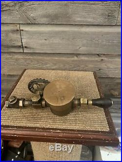 Vintage Hit And Miss Engine Michigan Lubricator Oiler