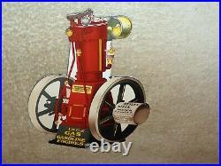 Vintage International Harvester Hit+ Miss Engine 8 Porcelain Metal Gas Oil Sign