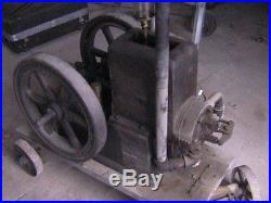 Vintage Leader Hit Miss Gas Engine 4 hp Field Force Pump Motor