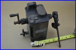 Vintage Manzel Force Feed Lubricator Machine Oiler Antique hit & miss engine
