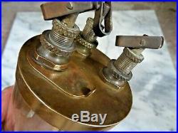 Vintage RARE WH WILKINSON BRASS OILER 3 Drips Steam Maritime Hit Miss Engine