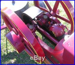 Waterloo Boy John Deere Hit Miss Engine 2.5 hp. Cart Antique 1911 Flywheel Cast
